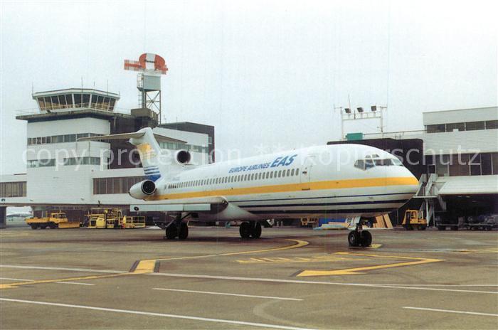 AK / Ansichtskarte Flugzeuge_Zivil E.A.S. Boeing 727 F GCGQ Cardiff Wales Airport  Flugzeuge Zivil