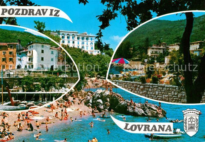 AK / Ansichtskarte Lovrana Strand Hotelanlagen Lovrana