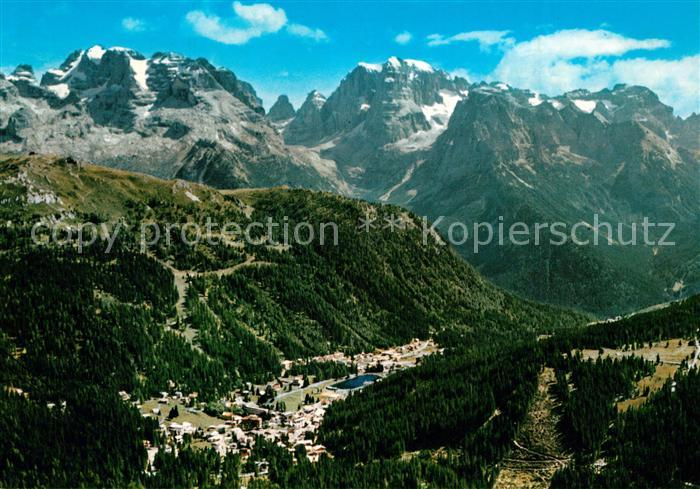 AK / Ansichtskarte Madonna_di_Campiglio Panorama visto da Pradalago con il Gruppo di Brenta Madonna_di_Campiglio