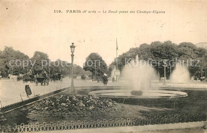 AK / Ansichtskarte Paris Le Rond Point des Champs Elysees Paris