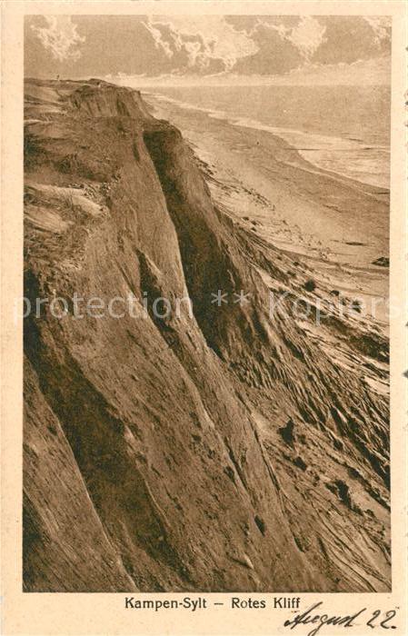 AK / Ansichtskarte Kampen_Sylt Rotes Kliff Kampen Sylt