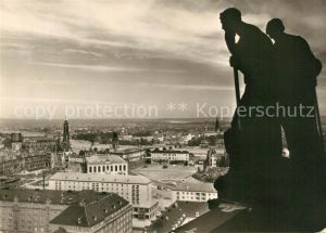 AK / Ansichtskarte Dresden Blick vom Rathausturm Dresden