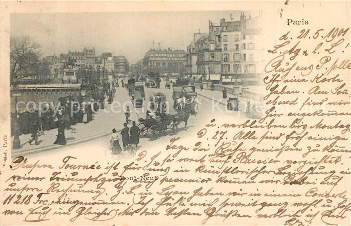 AK / Ansichtskarte Paris Pont Neuf Pferdekutschen Paris