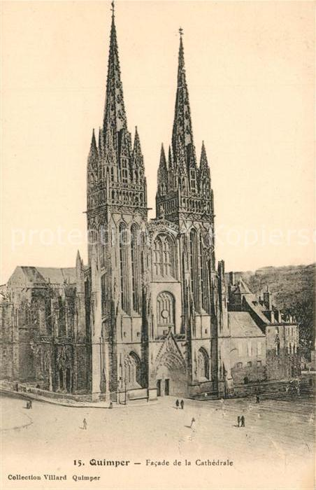 AK / Ansichtskarte Quimper Cathedrale Quimper