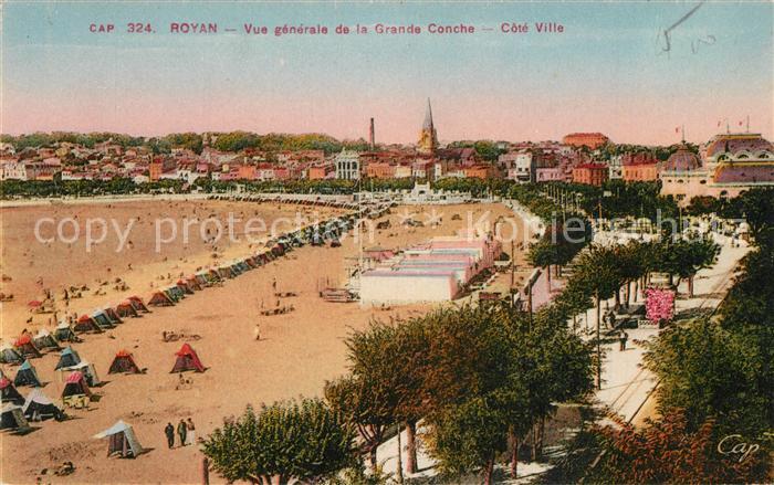 AK / Ansichtskarte Royan_Charente Maritime Strand Grande Conche  Royan Charente Maritime