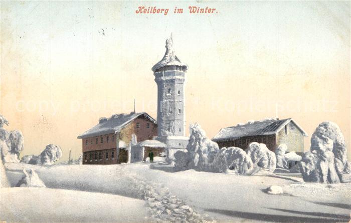 AK / Ansichtskarte Keilberg_Erzgebirge Kaiser Franz Josefs Aussichtsturm Winter Keilberg Erzgebirge