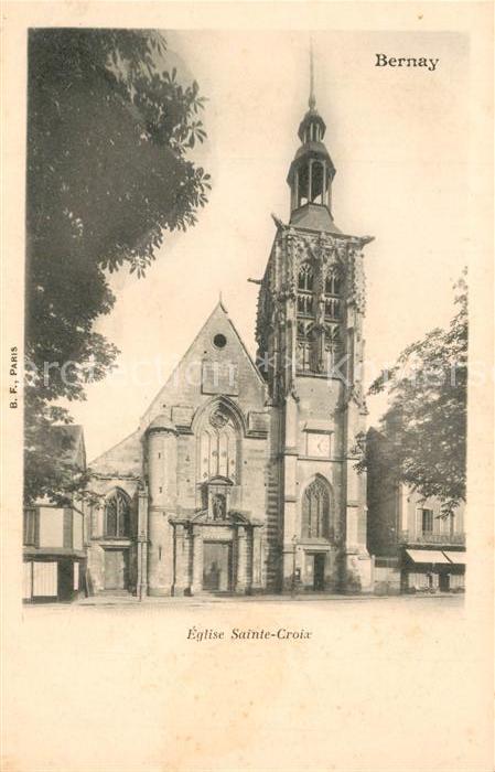 AK / Ansichtskarte Bernay Eglise Sainte Croix Bernay