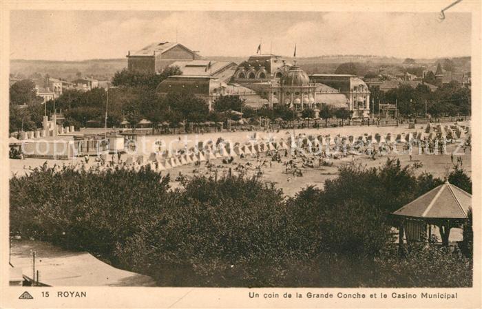 AK / Ansichtskarte Royan_Charente Maritime Grande Conche Casino Municipal Royan Charente Maritime