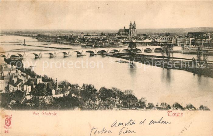 AK / Ansichtskarte Tours_Indre et Loire Bruecke Panorama Tours Indre et Loire
