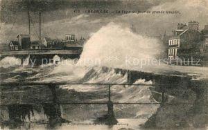 AK / Ansichtskarte Cherbourg_Octeville_Basse_Normandie La Vigie Grande tempete Cherbourg_Octeville