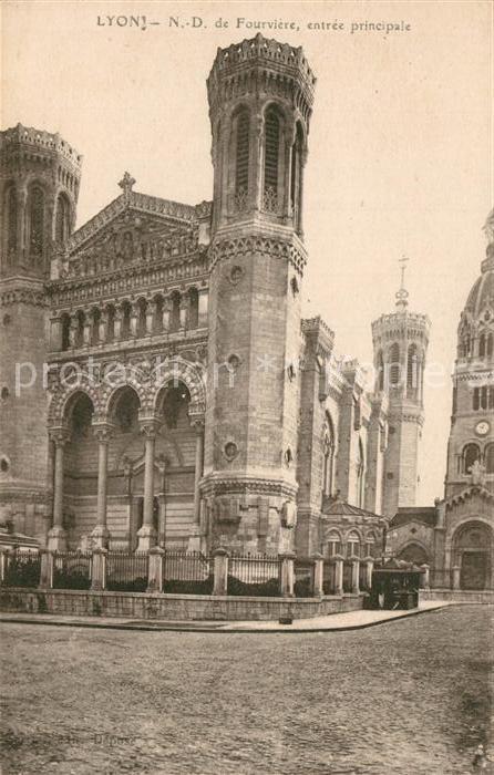 AK / Ansichtskarte Lyon_France Notre Dame de Fourviere Lyon France