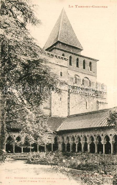 AK / Ansichtskarte Moissac Kloster Sainte Pierre Moissac