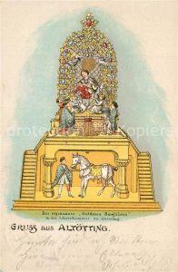 AK / Ansichtskarte Altoetting Das sogenannte Goldene Roesslein in der Schatzkammer Kuenstlerkarte Altoetting