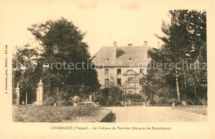 AK / Ansichtskarte Lhommaize Chateau de Verriere Marquis de Beauchamp Lhommaize