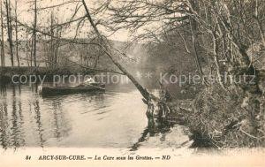 AK / Ansichtskarte Arcy sur Cure_Yonne La Cure Grottes Arcy sur Cure Yonne