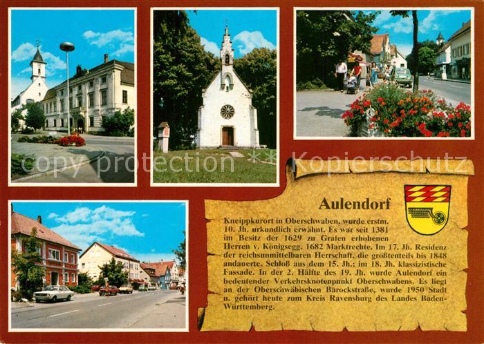 AK / Ansichtskarte Aulendorf Kirche Ortsansichten Chronik Aulendorf 0