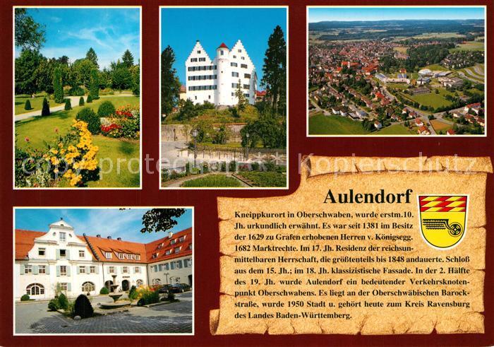 AK / Ansichtskarte Aulendorf Kurpark Schloss Kurhaus Ortsansicht Chronik Aulendorf