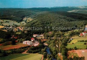AK / Ansichtskarte Sobernheim Felkebad Rehazentrum Camping Kurhaus Dhonau Freilichtmuseum Fliegeraufnahme Sobernheim