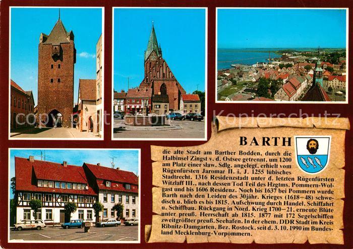 AK / Ansichtskarte Barth Dammtor Marktplatz Marienkirche Chronik Barth