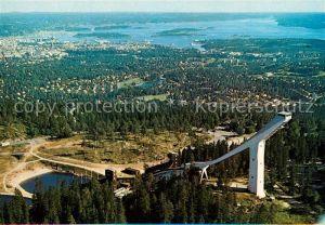 AK / Ansichtskarte Oslo_Norwegen Holmenkollen Fliegeraufnahme Oslo Norwegen