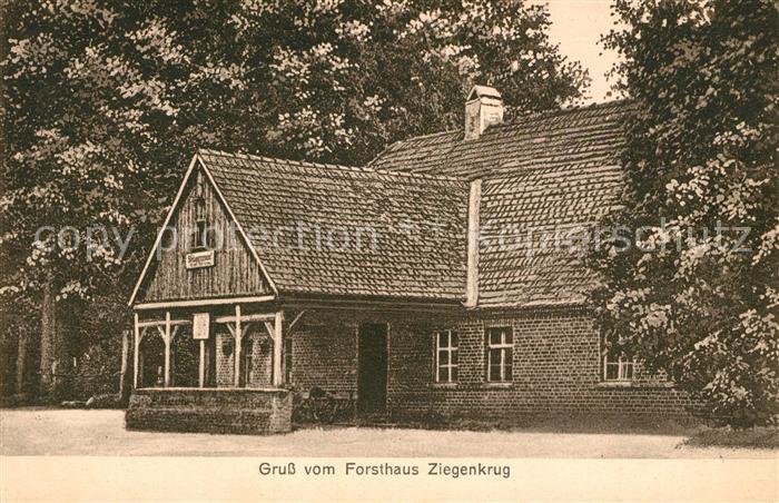 AK / Ansichtskarte Velten Forsthaus Ziegenkrug Velten