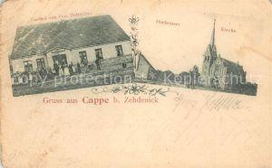 AK / Ansichtskarte Kappe Gasthof Dorfstrasse Kirche Kappe
