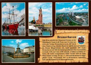 AK / Ansichtskarte Bremerhaven Schifffahrtsmuseum Leuchtturm Hafen Theodor Heuss Platz Chronik Bremerhaven