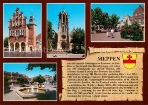 AK / Ansichtskarte Meppen Historisches Rathaus Brunnen Sankt Vitus Kirche Chronik Meppen