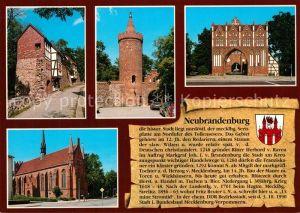 AK / Ansichtskarte Neubrandenburg Wiekhaeuser Stadtmauer Fangelturm Treptower Tor Klosterkirche Neubrandenburg