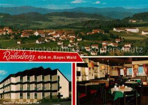 AK / Ansichtskarte Rattenberg_Niederbayern Panorama Gasthof Pension Zur Post Rattenberg Niederbayern