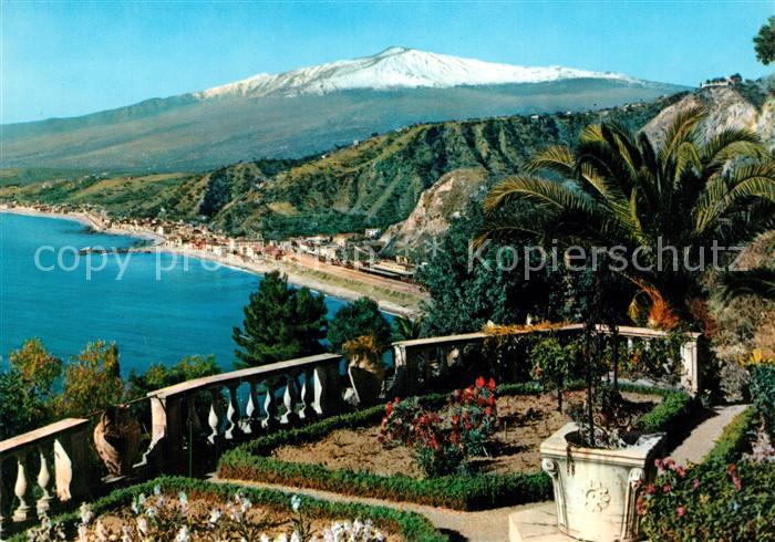 AK / Ansichtskarte Taormina_Mare Panorama aetna Taormina Mare