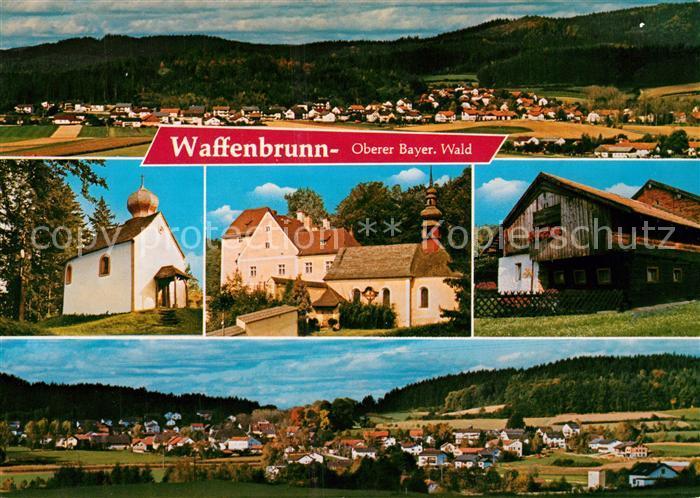 AK / Ansichtskarte Waffenbrunn Panorama KapelleKirche  Waffenbrunn