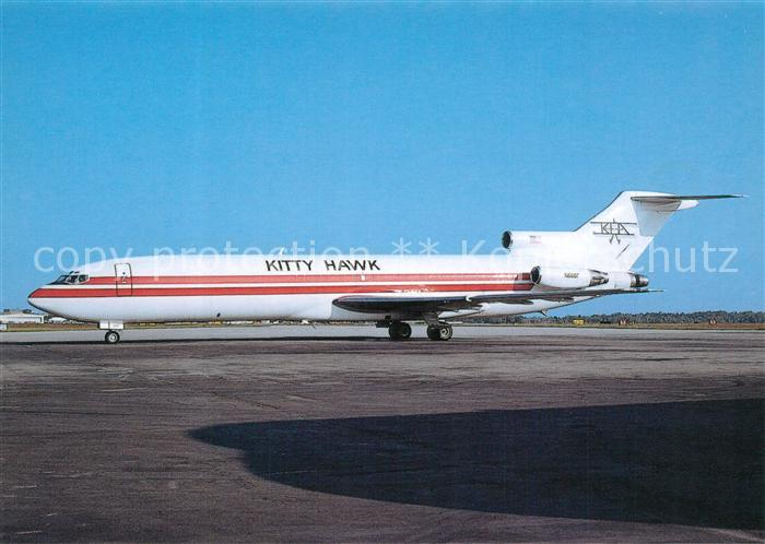 AK / Ansichtskarte Flugzeuge_Zivil Kitty Hawk Air Cargo B 727 223F N6807 c n 19482 Flugzeuge Zivil