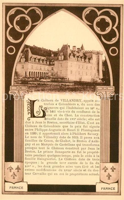 AK / Ansichtskarte Villandry Chateau Chronik Villandry