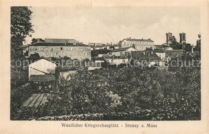 AK / Ansichtskarte Stenay Westlicher Kriegsschauplatz 1. Weltkrieg Stenay