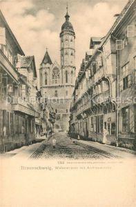 AK / Ansichtskarte Braunschweig Weberstrasse mit Andreaskirche Braunschweig
