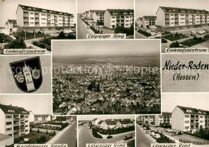 AK / Ansichtskarte Nieder Roden Leipziger Strasse Ring Einkaufszentrum Nieder Roden