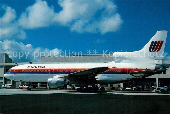 AK / Ansichtskarte Flugzeuge_Zivil United Lockheed L1011 500 N513PA  Flugzeuge Zivil