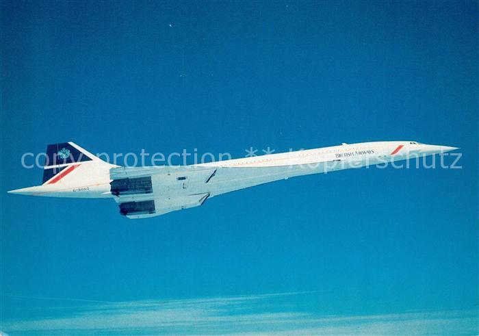 AK / Ansichtskarte Flugzeuge_Zivil British Airways Concorde  Flugzeuge Zivil