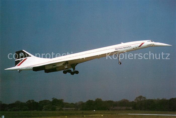 AK / Ansichtskarte Flugzeuge_Zivil British Airways Concorde G BOAG C N 214 Flugzeuge Zivil