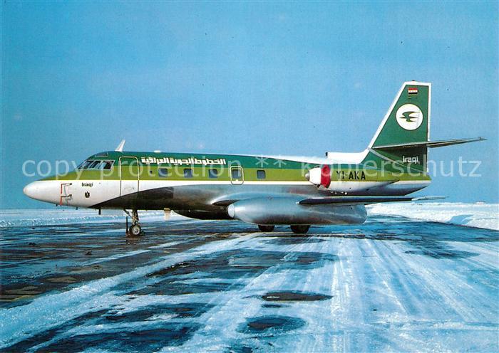 AK / Ansichtskarte Flugzeuge_Zivil Iraqi Airways Lockheed 1329 JetStar II YI AKA c n 5233 Flugzeuge Zivil