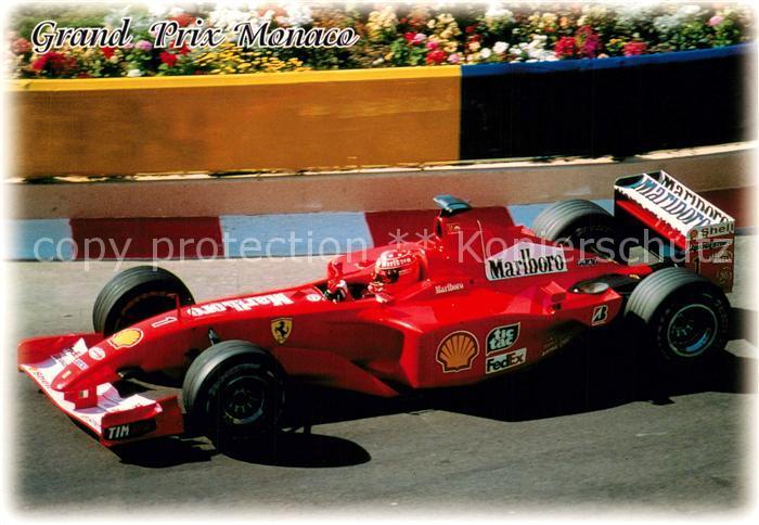 AK / Ansichtskarte Autorennen Formel 1 Ferrari Grand Prix Monaco Ferrari  Autorennen