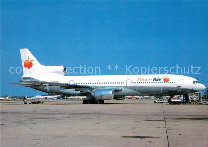 AK / Ansichtskarte Flugzeuge_Zivil Peach Air Lockheed L 1011 Tristar TF ABH  Flugzeuge Zivil