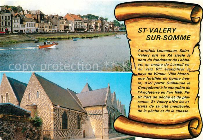 AK / Ansichtskarte Saint Valery sur Somme Ortsansicht Hafen Kirche Stadtmauer  Saint Valery sur Somme