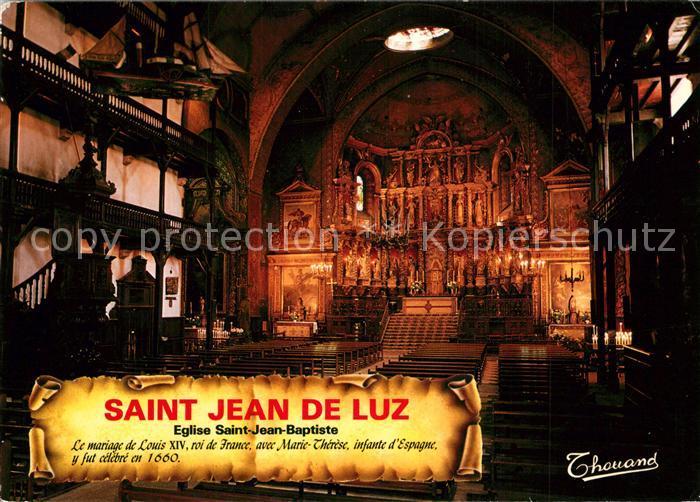 AK / Ansichtskarte Saint Jean de Luz Eglise Saint Jean Baptiste  Saint Jean de Luz