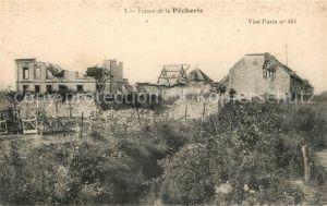 AK / Ansichtskarte Paris Ferme de la Pecherie detruite Truemmer Ruinen 1. Weltkrieg Paris