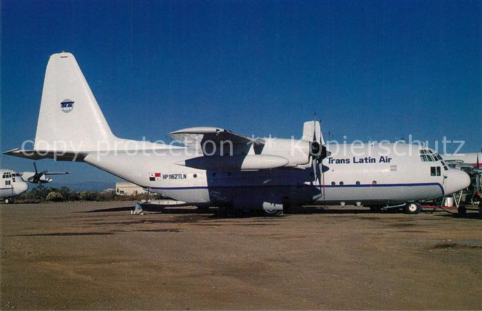 AK / Ansichtskarte Flugzeuge_Zivil Trans Latin Air Lockheed C 130A Hercules c n 3086 HP 1162TLN Flugzeuge Zivil
