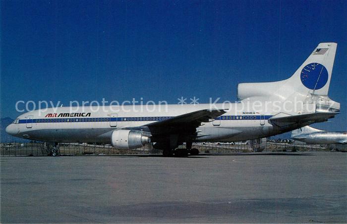 AK / Ansichtskarte Flugzeuge_Zivil Air America Lockheed L 1011 385 1 Tristar 1 c n 1005 N304EA Flugzeuge Zivil