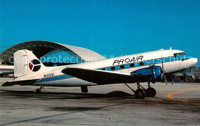 AK / Ansichtskarte Flugzeuge_Zivil Pro Air Services Douglas DC 3B N14931 c n 2118 Flugzeuge Zivil