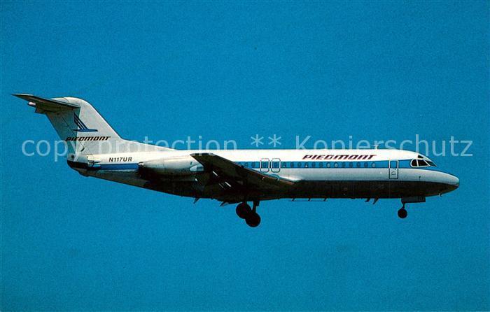 AK / Ansichtskarte Flugzeuge_Zivil Piedmont Airlines Fokker F 28 4000 N117UR c n 11222 Flugzeuge Zivil